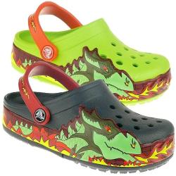 CROCS CrocsLights Fire Dragon Blinkies Blinkschuhe Gr. 22-35