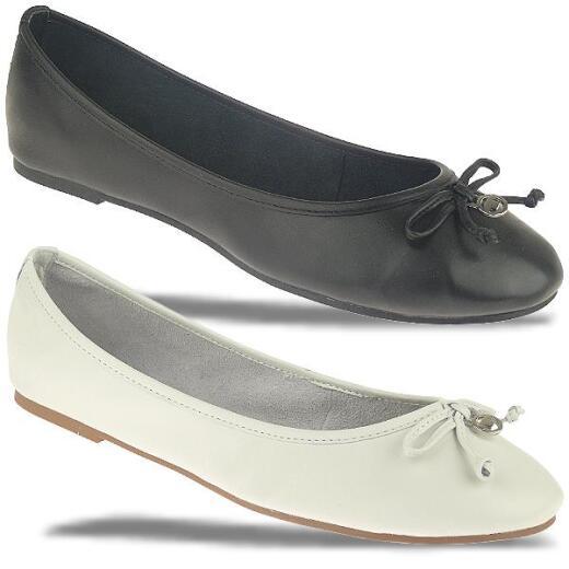 separation shoes 1eb67 3cd62 TOM TAILOR 9694301 Leder Ballerina schwarz oder weiss Gr.37-42