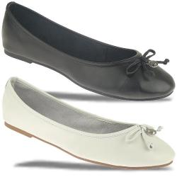 TOM TAILOR 9694301 Leder Ballerina schwarz oder weiss...