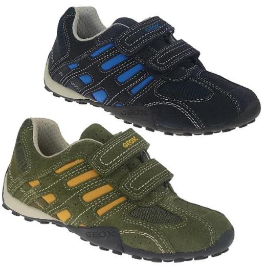 GEOX J FRECCIA D Leder Halbschuh Sneaker blau Gr.28 36