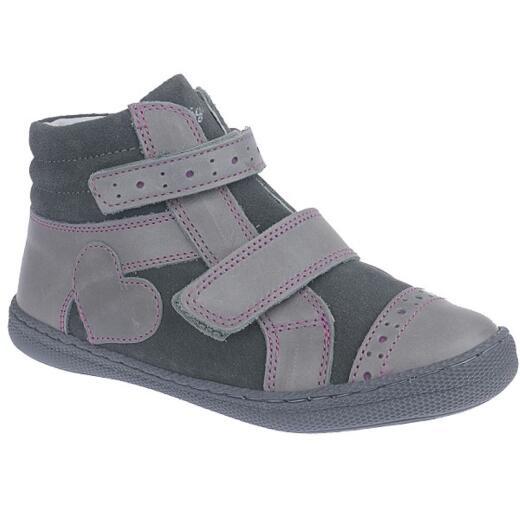 buy popular 89606 c37fd Primigi ANNE Mädchen Leder Boots Klettschuhe grau-fuxia Gr.27-35