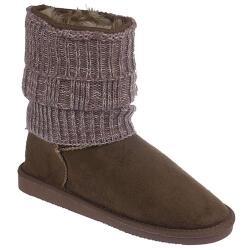 INDIGO kuschelige Boots CANADIANS Strickstulpe in 2...