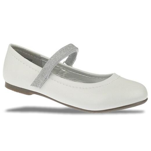 INDIGO Ballerina festlicher Schuh 424 080 matt weiß Gr.31 39