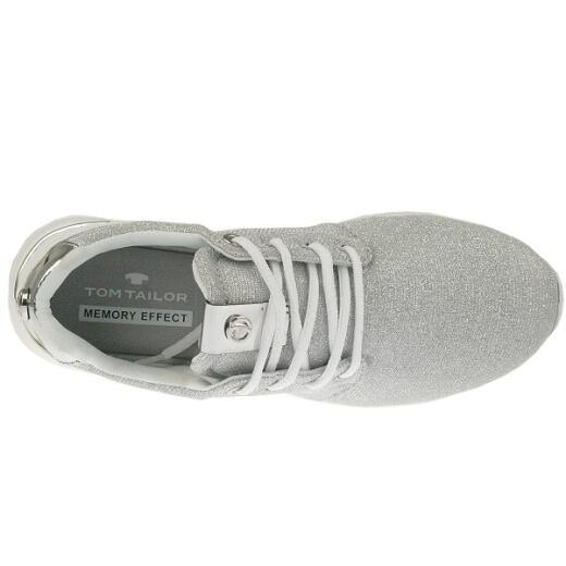 sports shoes ecba6 91a87 TOM TAILOR 2791702 Damen Sneaker Glitzer-Look super leicht Gr.37-42