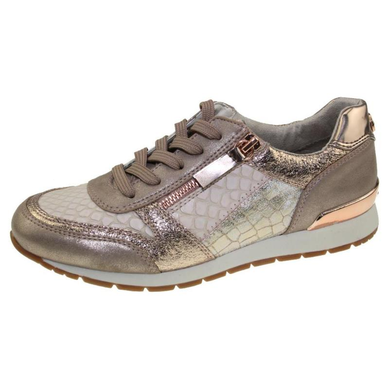 tom tailor 4894105 leichter damen sneaker low top halbschuh glitzer metallic 44 91. Black Bedroom Furniture Sets. Home Design Ideas