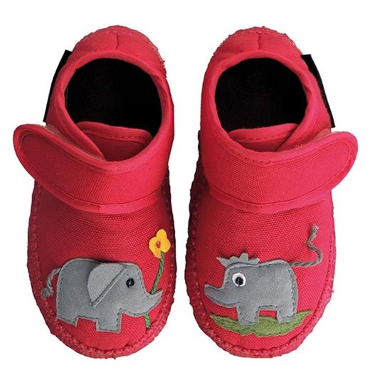 NANGA Hausschuh Dumbo kleiner Elefant rot Gr.18 26