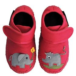 NANGA Hausschuh Dumbo kleiner Elefant rot Gr.18-26