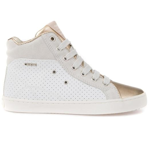 GEOX  JR KIWI Girl High-Top-Sneaker white/gold Gr.33-41