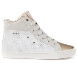 GEOX  JR KIWI Girl High-Top-Sneaker white/gold Gr.33-41