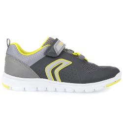 GEOX  J XUNDAY BOY Jungen Sneaker Low-Top grey/lime Gr.33-41