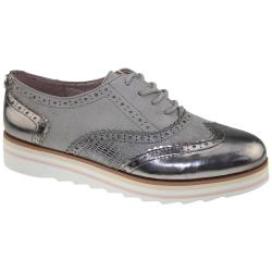 TOM TAILOR 2790403 Damen Sneaker silver-grey Brogues...