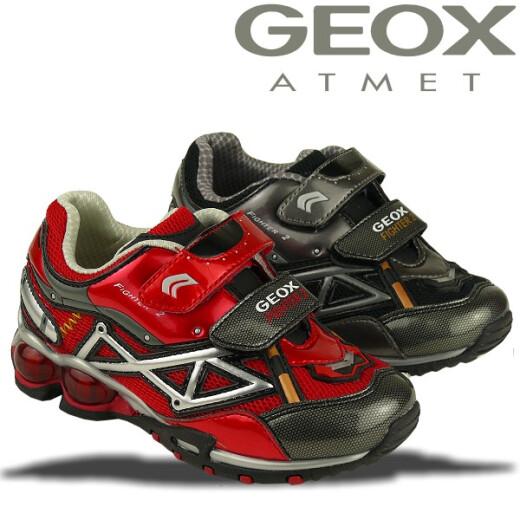 GEOX Blink Sneaker FIGHTER2 M rot o. schwarz Gr.26-34 schwarz 30