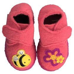 NANGA Hausschuh BEE kleine Biene pink Gr.18-24