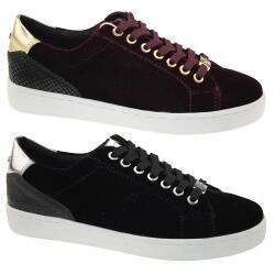 TOM TAILOR Fashion 3792604 leichter Sneaker in Samtoptik...