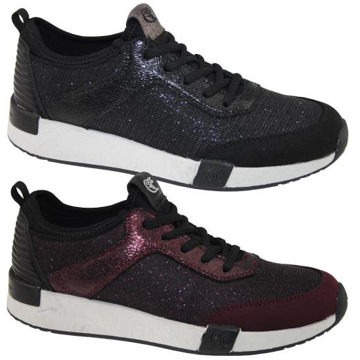 TOM TAILOR 3799106 Damen Sneaker Low Top Glitzer Optik Gr.37 42