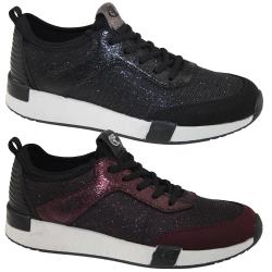 TOM TAILOR 3799106 Damen Sneaker Low-Top Glitzer-Optik...