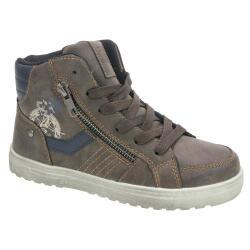 INDIGO Kinder High-Top-Sneaker Boots gefüttert 451 044 schwarz oder braun Gr.33-39