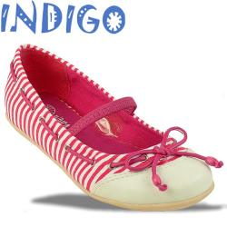 INDIGO Ballerina Sommertrend gestreift 3 Farben Gr.24-39 pink 28