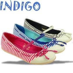 INDIGO Ballerina Sommertrend gestreift 3 Farben Gr.24-39 blau 30
