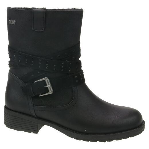 neuesten Stil von 2019 speziell für Schuh authentisch INDIGO Mädchen Stiefel Biker 464 048 gefüttert schwarz Gr.33-39