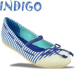 INDIGO Ballerina Sommertrend gestreift 3 Farben Gr.24-39 blau 32