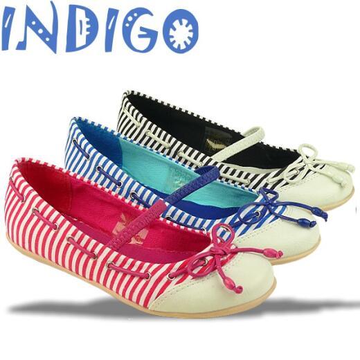 INDIGO Ballerina Sommertrend gestreift 3 Farben Gr.24-39 blau 36