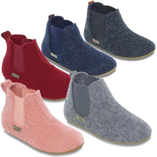 fa91ead3ab61d Living Kitzbühel 3064 Chelsea Boots uni Hausschuhe Wolle Gr. 26 - 30 Neu