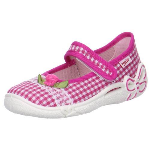 wholesale dealer 4e77e 22065 SUPERFIT Hausschuh Ballerina BELINDA 00287-64 vichy pink Gr.25-35