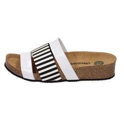 DR.BRINKMANN Pantolette Sandale weiß schwarz...
