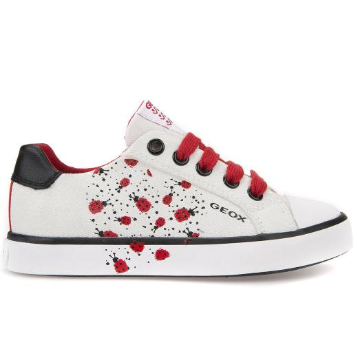 GEOX JR KIWI Girl High Top Sneaker whitegold Gr.33 41
