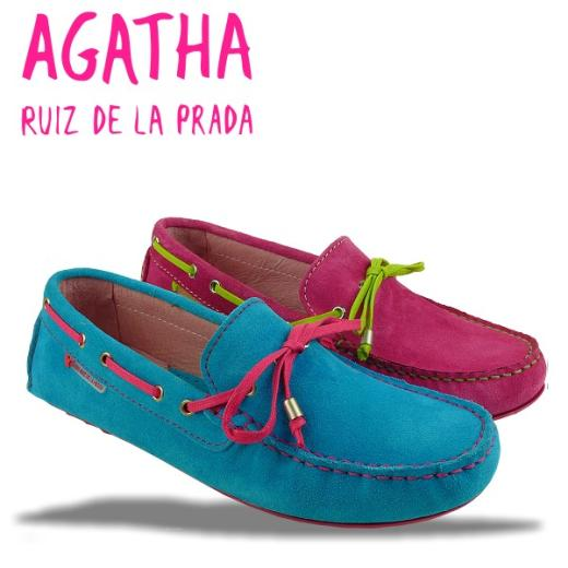 AGATHA RUIZ DE LA PRADA Mokassin Segelschuh 2 Farben Gr.34-40 türkis 34