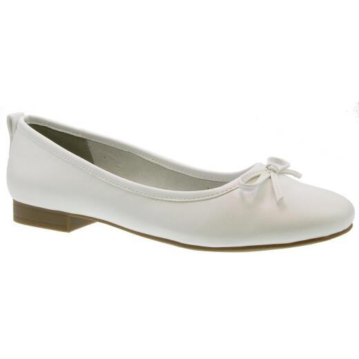 check out 617ad 1eae4 Jane Klain 221071000103 Sommer Ballerina Schuh Schleife weiß Gr.37-42