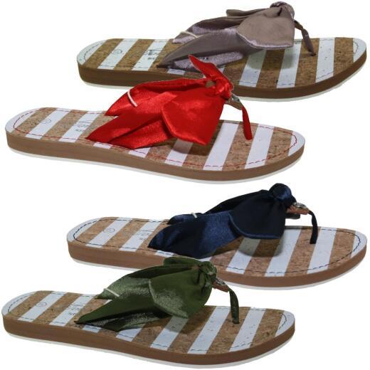best sneakers 490c4 0f37a TOM TAILOR 4891614 Damen Zehentrenner Schleife Satin Glitzer Gr.37-43