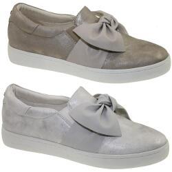 61efa5f770fcac TOM TAILOR 4892617 Damen Sneaker Slipper Schleife Metallic-Optik Gr.37-43