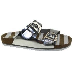 TOM TAILOR Damen Pantolette Sandale 4893404 Lederfussbett...