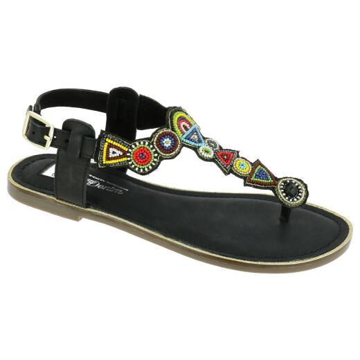 sports shoes 8eaec 981eb TOM TAILOR Damen Dianette Sandalette Zehentrenner Perlen Mosaik 4899501  Gr.37-42