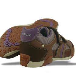GEOX Leder Sneaker  J TALE F braun NEU Gr.33-41