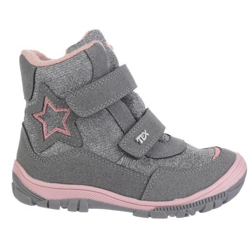 sale retailer 33c48 855a6 INDIGO Canadians Mädchen Halbstiefel Stiefel Boots Glitzer Tex-Membran  silbergrau oder navy Gr.28-35