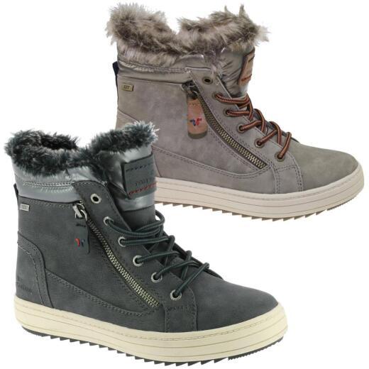 size 40 27aef 51f5c TOM TAILOR 5894702 Schnee Stiefel Winter Boots Warmfutter Tex  Reißverschluss Gr.37-43