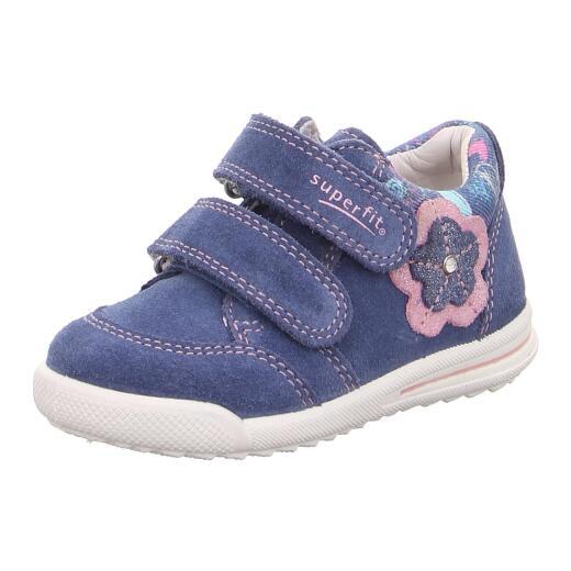 lowest price 1c88b 23fa4 SUPERFIT Baby Kinder Leder Halbschuh Sneaker AVRILE 09377-80 Klett Weite  schmal Gr.19-26