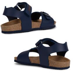 GEOX Kinder Sandale J New Sandal STORM Lederfussbett...