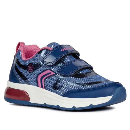 GEOX Lights Blinkschuh Halbschuh Sneaker Active Junior Spaceclub navy Gr.25-35