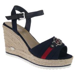 TOM TAILOR 6990210 Riemchen Sandalette Keilpumps Wedges...