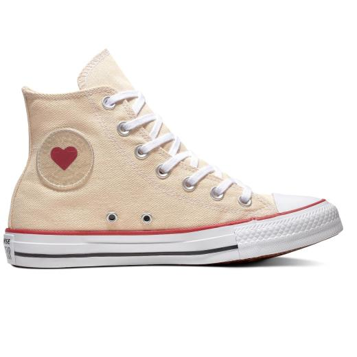CONVERSE Chuck Taylor All Star Sucker Love Denim High Top 163304C Beige Herz Gr.37 43