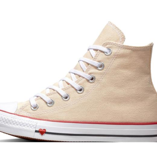 CONVERSE Chuck Taylor All Star Sucker Love Denim High Top 163304C Beige Herz Gr.37-43