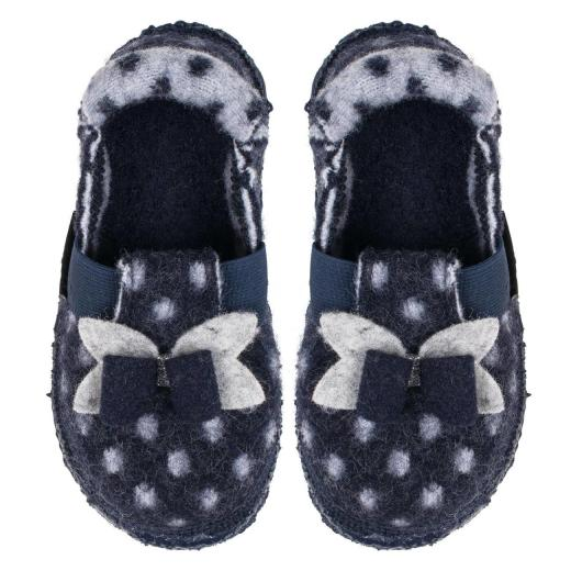 NANGA LITTLE DOTTY Hausschuh Slipperform Schurwolle blau Gr.31-35 EUR 32