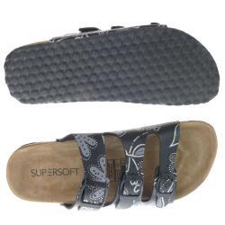 Supersoft 274 051 Damen Pantolette Clog Lederfussbett...