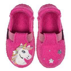 Nanga Unicorn Hausschuh Slipper Unicorn glitzer himbeere...