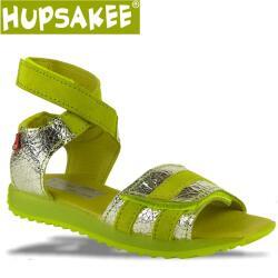 Hupsakee Mädchen Sandale mit Klett, Leder,grün,...