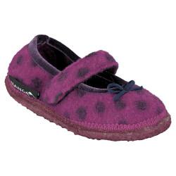 Nanga Juicy Berry Hausschuh Ballerinastil Wolle lila Dots...